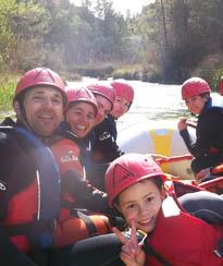 rafting familias